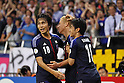 (L to R) .Ryoichi Maeda (JPN), .Keisuke Honda (JPN), .Shinji Kagawa (JPN), .JUNE 8, 2012 - Football / Soccer : .FIFA World Cup Brazil 2014 Asian Qualifier .Final Round Group B .between Japan 6-0 Jordan .at Saitama Stadium 2002, Saitama, Japan. .(Photo by YUTAKA/AFLO SPORT) [1040]