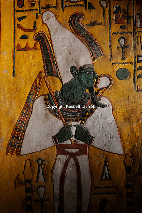 Zahi Hawass Secret Egypt Travel Guide; Egypt; archaeology; Luxor; West Bank; Valley of the Queens; Tomb of Nefertari,New Kingdom; Wife of Ramses II; Ramesses the Great, god, Osiris