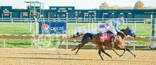 Annies Got Agun LZP winning at Delaware Park on 10/22/12