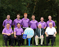 Carton House Club Captain Paul Hanley, Team Captain Brian Cunningham John Ferriter Chairman Leinster Golf and Brendan McKenna AIG team members Des Morgan, Gary McDermott, Jack Doherty, Sean O'Connor, Colin Cunningham and Paul O'Hanlon 2017 AIG Senior Cup Leinster Final winners at Malahide Golf Club.. 27/08/2017<br />