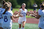 Becca Rolfe (10) of the High Point Panthers during player introductions prior to the match against the Appalachian State Mountaineers at Vert Track, Soccer & Lacrosse Stadium on August 26, 2016 in High Point, North Carolina.  The Panthers defeated the Mountaineers 2-0.  (Brian Westerholt/Sports On Film)