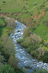 Israel, Jordan River as seen from the Scenic Route