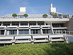 New Court building in Christ's College, University of Cambridge, architect Sir Denys Lasdun built 1966-70, Cambridge, England