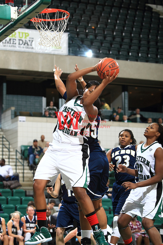 Eastern Michigan University Women's Basketball team dominated Akron at EMU.