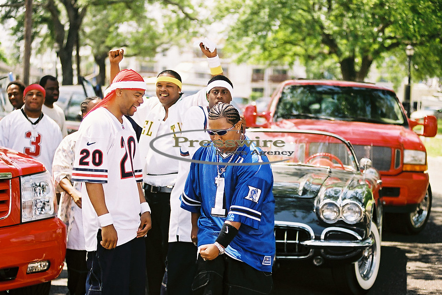 "New Orleans, Louisiana - May 8, 2002:  The Cash Money Records ""Big Tymers"" shooting their video ""Oh Yeah"" on Lake Poncthartrain.  Photo credit: Elgin Edmonds / Presswire News"