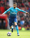 Henrikh Mkhitaryan of Arsenal during the premier league match at the Old Trafford Stadium, Manchester. Picture date 29th April 2018. Picture credit should read: Simon Bellis/Sportimage