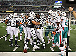 Dallas Cowboys inside linebacker Sean Lee (50) in action during the Thanksgiving Day game between the Miami Dolphins and the Dallas Cowboys at the Cowboys Stadium in Arlington, Texas. Dallas defeats Miami 20 to 19...