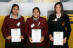 Girls Volleyball finalists Margaret Lafaele, Pogai Falemai & Tamara Hemara. ASB College Sport Young Sportperson of the Year Awards 2007 held at Eden Park on November 15th, 2007.