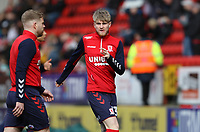 Hayden Coulson of Middlesbrough warming up during Charlton Athletic vs Middlesbrough, Sky Bet EFL Championship Football at The Valley on 7th March 2020