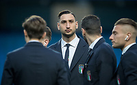 Goalkeeper Gianluigi Donnarumma (AC Milan) of Italy during the International Friendly match between Argentina and Italy at the Etihad Stadium, Manchester, England on 23 March 2018. Photo by Andy Rowland.