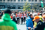 Lotto Soudal Ladies at team presentation before the 2019 Liège-Bastogne-Liège Femmes,  running 138.5km from Bastogne to Liege, Belgium. 27th April 2019<br /> Picture: ASO/Thomas Maheux | Cyclefile<br /> All photos usage must carry mandatory copyright credit (© Cyclefile | ASO/Thomas Maheux)