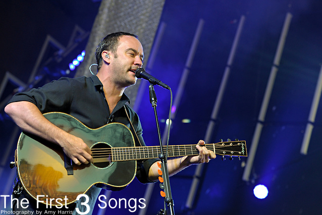 Dave Matthews of the Dave Matthews Band performs at the Klipsch Music Center in Indianapolis, Indiana.