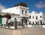 Historic whitewashed buildings in Haria, Lanzarote, Canary Islands, Spain