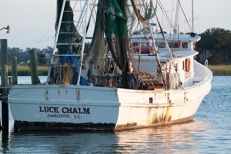Shrimp Boat Sunset Crosbys near Folly Beach South Carolina Marsh Grass net