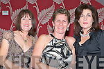 DANCERS: Enjoying the Kilflynn Dancing Group social dinner and dance at Ballyroe Heights Hotel on Thursday l-r: Susan Curran, Bernie Young and Margaret Walsh all from Kilmoyley.   Copyright Kerry's Eye 2008
