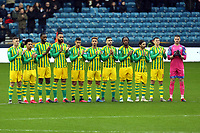 West Brom players observe a minutes applause before Millwall vs West Bromwich Albion, Sky Bet EFL Championship Football at The Den on 9th February 2020