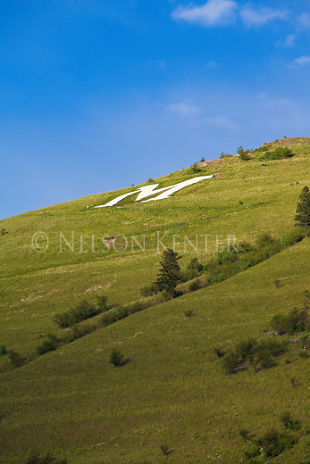 The M on Mount Sentinel in Missoula, Montana