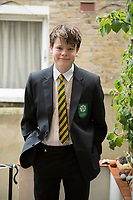 Felix on his first day of School. New Cross, London, England, Great Britain