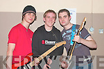 Competing in The  Battle of The bands in The Presentation School Hall Listowel on Friday night were, Cian O'Sullivan, Matt Blutt and Shane Flynn, from Abbeyfeale..   Copyright Kerry's Eye 2008