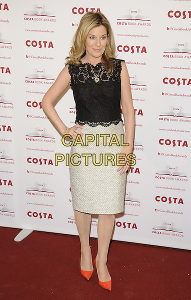 LONDON, ENGLAND - JANUARY 28: Andrea Catherwood attend the Costa Book Of The Year Award 2013, Quaglino's bar &amp; restaurant, Bury St., on Tuesday January 28, 2014 in London, England, UK.<br /> CAP/CAN<br /> &copy;Can Nguyen/Capital Pictures