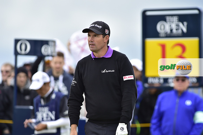 Padraig HARRINGTON (IRL) on the 13th tee during Friday's Round 2 of the 144th Open Championship, St Andrews Old Course, St Andrews, Fife, Scotland. 17/07/2015.<br /> Picture Eoin Clarke, www.golffile.ie