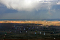 Wind farm, northern Colorado, near Carr.