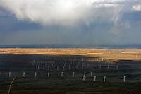 Wind farm, northern Colorado, near Carr.