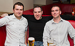 Paul Sarsfield, Ciaran Higgins and Stephen Leech in Bru..Picture: Shane Maguire / www.newsfile.ie.