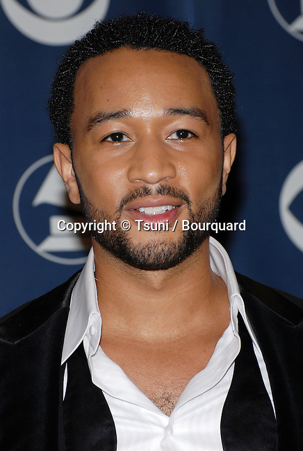 John Legend backstage at the 49th Annual Grammy's  at the Staples Center in Los Angeles. February 11, 2007.<br /> <br /> headshot