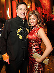 Jared and Gina Coulter at the Mardi Gras Ball at the Tremont House in Galveston Saturday Feb. 13,2010.(Dave Rossman Photo)