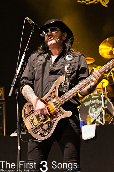 Ian 'Lemmy' Kilmister of Motorhead performs at the 2012 Rockstar Energy Drink Mayhem Festival at Blossom Music Center in Cleveland, Ohio.