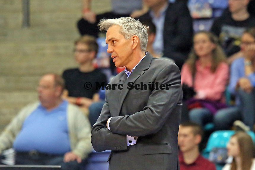 Trainer Gordon Herbert (Skyliners) - Fraport Skyliners vs. Brose Baskets Bamberg, Fraport Arena Frankfurt