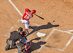 7 September 2014: Washington Nationals outfielder Kevin Frandsen connects during a game against the Philadelphia Phillies at Nationals Park in Washington, DC. The Nationals defeated the Phillies 3-2 to salvage the final game of their 3-game series. Mandatory Credit: Ed Wolfstein Photo *** RAW (NEF) Image File Available ***