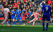 4th November 2017, bet365 Stadium, Stoke-on-Trent, England; EPL Premier League football, Stoke City versus Leicester City; Xherdan Shaqiri of Stoke City has a shot on goal but it goes wide