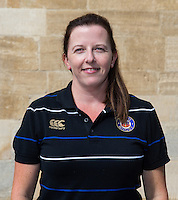 Medical Administrator Helen Shand poses for a portrait at a Bath Rugby photocall. Bath Rugby Media Day on September 8, 2015 at Farleigh House in Bath, England. Photo by: Rogan Thomson for Onside Images