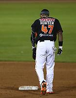 Cedric Hunter, durante el juego de beisbol de segunda vuelta de la Liga Mexicana del Pacifico. Segundo partido entre Charros de Jalisco vs Naranjeros de Hermosillo. 16 Diciembre 2017.<br /> (Foto: Luis Gutierrez /NortePhoto.com)