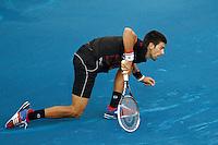 08.05.2012. Madrid, Spain, ATP Mens Madrid Open Tennis Tournament. Match played between Novak Djokovic (SRB) vs Daniel GimenoTraver (SPA) Picture show  Novak Djokovic during match.