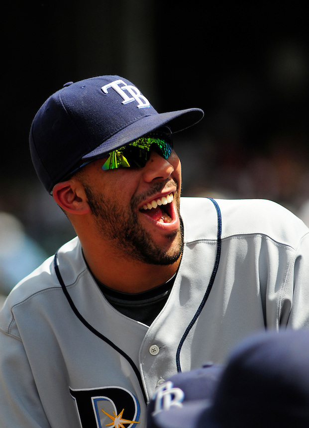 June 18, 2009: Rays pitcher David Price in the dugout during a game between the Tampa Bay Rays and the Colorado Rockies at Coors Field in Denver, Colorado. The Rockies beat the Rays 4-3.