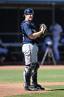 Milwaukee Brewers catcher Greg McCall (64) during an Instructional League game against the Seattle Mariners on October 4, 2014 at Peoria Stadium Training Complex in Peoria, Arizona.  (Mike Janes/Four Seam Images)