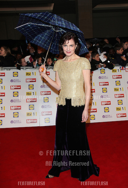 Elizabeth McGovern arriving for the 2012 Pride of Britain Awards, at the Grosvenor House Hotel, London. 29/10/2012 Picture by: Alexandra Glen / Featureflash