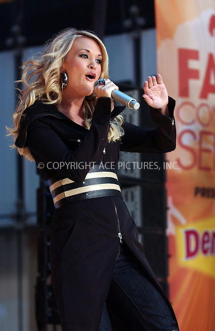 WWW.ACEPIXS.COM . . . . . ....October 23 2007, New York City....Singer Carrie Underwood performing on ABC's 'Good Morning America' show  in Times Square....Please byline: KRISTIN CALLAHAN - ACEPIXS.COM.. . . . . . ..Ace Pictures, Inc:  ..(646) 769 0430..e-mail: info@acepixs.com..web: http://www.acepixs.com