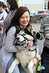 "Maria Duff with Tristan enjoying ""National Dog Walking Day"" at Petmania....(Photo credit should read Jenny Matthews www.newsfile.ie)....This Picture has been sent you under the conditions enclosed by:.Newsfile Ltd..The Studio,.Millmount Abbey,.Drogheda,.Co Meath..Ireland..Tel: +353(0)41-9871240.Fax: +353(0)41-9871260.GSM: +353(0)86-2500958.email: pictures@newsfile.ie.www.newsfile.ie."