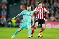 Athletic de Bilbao's Inigo Cordoba (r) and FC Barcelona's Leo Messi during La Liga match. October 28,2017. (ALTERPHOTOS/Acero) /NortePhoto.com