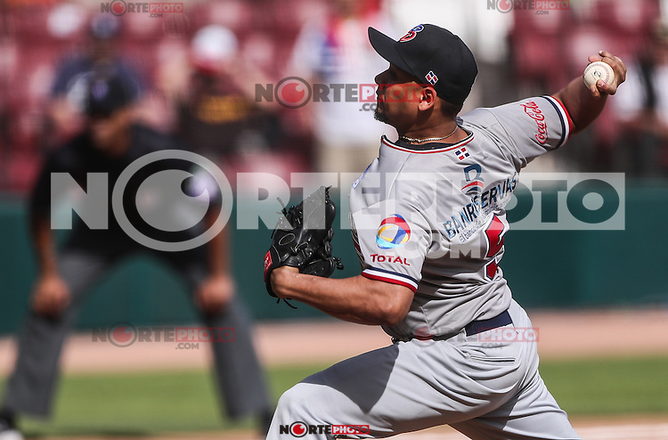 Edgar Garcia Pitcher relvo de Dominicana  , durante el partido de beisbol de la Serie del Caribe entre Republica Dominicana vs Puerto Rico en el Nuevo Estadio de los Tomateros en Culiacan, Mexico, Sabado 4 Feb 2017. Foto: Luis Gutierrez/NortePhoto.com<br /> <br /> Actions, during the Caribbean Series baseball match between Dominican Republic vs Puerto Rico at the New Tomateros Stadium in Culiacan, Mexico, Saturday 4 Feb 2017. Photo: Luis Gutierrez / NortePhoto.com