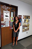 Sarita Robinson, Director of SIU Service Center - Shawnee Community College, poses for a portrait outside the SIU Service Center located within Shawnee Community College in Ullin, Ill., on Wednesday, July 13, 2011. Seven SIU Service Centers such as this one have partnered with Illinois state community colleges in a pilot program where students in the program will apply and be accepted at the four-year institution, but complete their first two years at the community college.