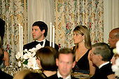 Washington, D.C. - November 2, 2005 -- Jenna Bush, right, daughter of United States President George W. Bush, attends a social dinner with her guest Henry Hager,left, at the White House in Washington, D.C. on November 2, 2005. The rare black tie dinner was held by the President to honor Charles, Prince of Wales and his wife, Camilla, Duchess of Cornwall, who are on an eight-day visit to the United States. .Credit: Jay L. Clendenin - Pool via CNP.(Restriction: No New York Metro or other Newspapers within a 75 mile radius of New York City)
