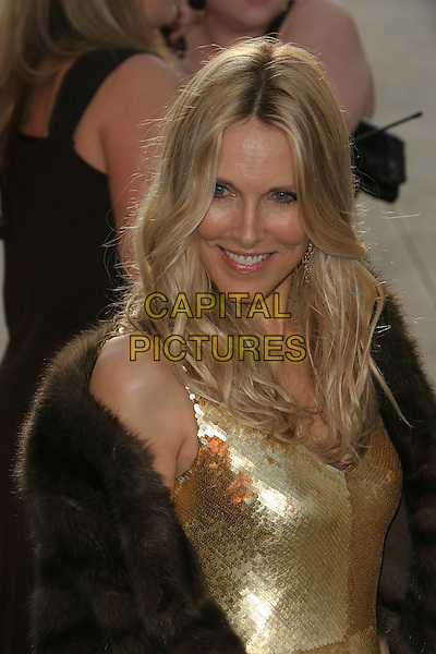 ALANA STEWART.2006 Vanity Fair Oscar Party held at Morton's, .West Hollywood, California, USA, .05 March 2006..half length gold dress oscars .Ref: ADM/CH.www.capitalpictures.com.sales@capitalpictures.com.©Charles Harris/AdMedia/Capital Pictures.