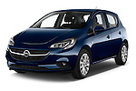 2015 Opel CORSA Enjoy 5 Door Hatchback Angular Front stock photos of front three quarter view
