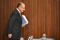 BRASÍLIA, DF, 20.06.2016 – TEMER-GOVERNADORES – O governador de São Paulo, Geraldo Alckmin durante reunião com Governadores, na tarde desta segunda-feira, 20, no Palácio do Planalto. (Foto: Ricardo Botelho/Brazil Photo Press)