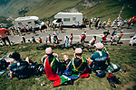 Fans wait for the race on Col du Tourmalet during Stage 14 of the 2019 Tour de France running 117.5km from Tarbes to Tourmalet Bareges, France. 20th July 2019.<br /> Picture: ASO/Thomas Maheux | Cyclefile<br /> All photos usage must carry mandatory copyright credit (© Cyclefile | ASO/Thomas Maheux)